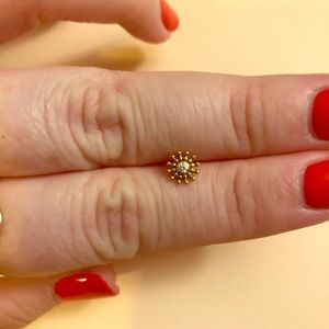 Sacred Symbols Jewelry - Sacred Symbols YG Burst with White Swarovski